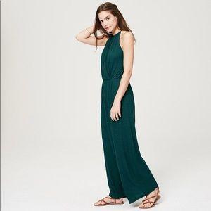 LOFT • Teal Halter Maxi Dress